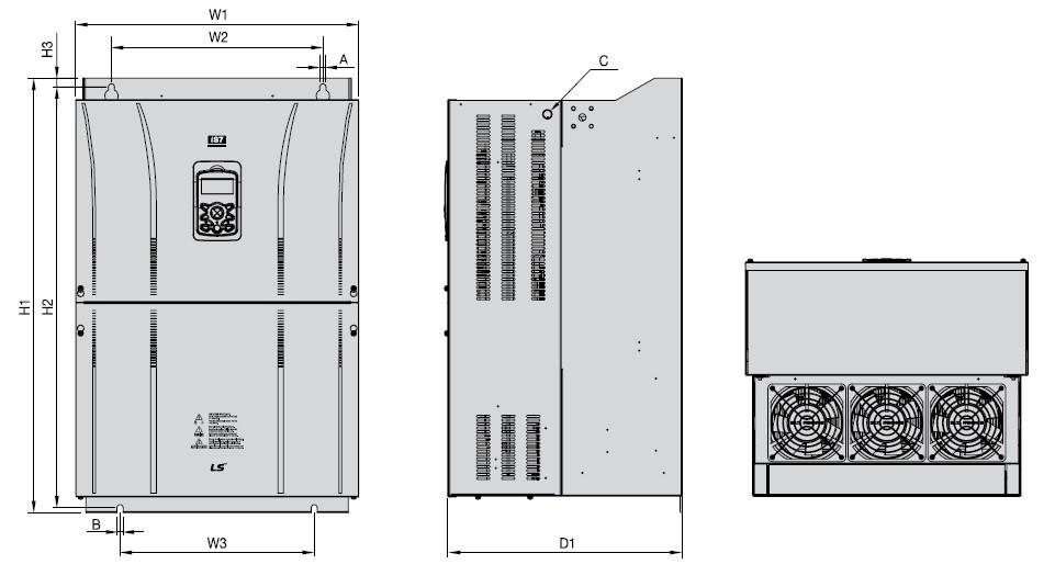 ابعاد اینورتر IS7